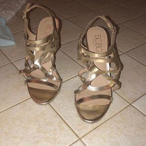 """BCBG Light Gold 2.5"""" heels"""